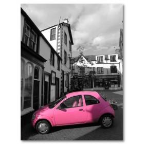 Αφίσα (μαύρο, λευκό, άσπρο, ροζ, αυτοκίνητο, σπίτι)